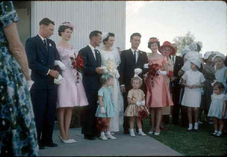 Peter and Olive's wedding in 1965